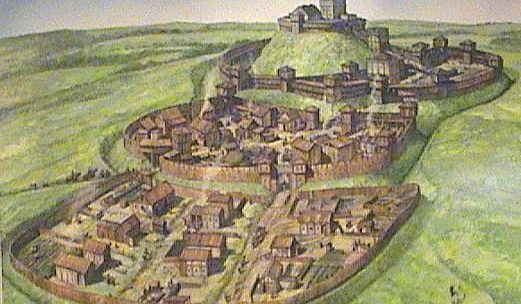 Châteaux Motte et Bailey, le design original du château.